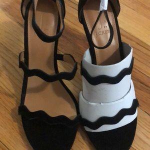 Size 7 1/2 J Crew heels.